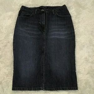 French Connection High Waisted Jean Skirt